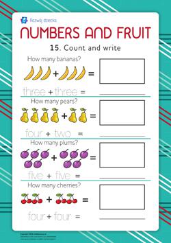 Uczymy się cyfr (język angielski) 15