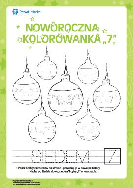 """Kolorowanka noworoczna """"Siedem"""""""
