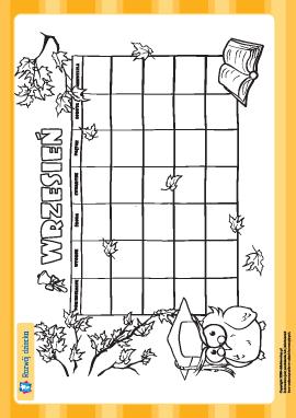 Tworzymy kalendarz: wrzesień