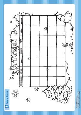 Tworzymy kalendarz: styczeń