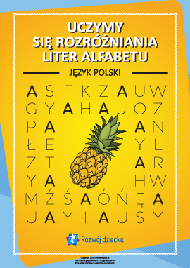 Uczymy się rozróżniania liter polskiego alfabetu