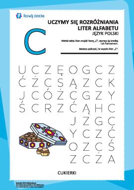 """Alfabet polski: rozpoznaj literę """"C"""""""
