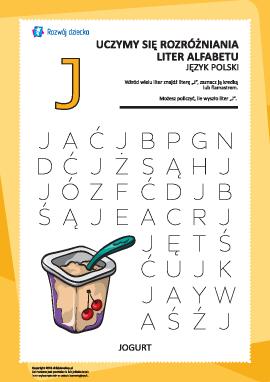 "Alfabet polski: rozpoznaj literę ""J"""