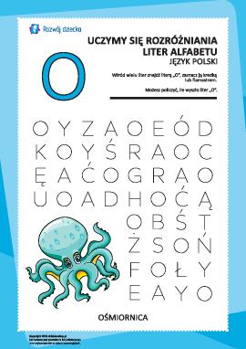 "Alfabet polski: rozpoznaj literę ""O"""