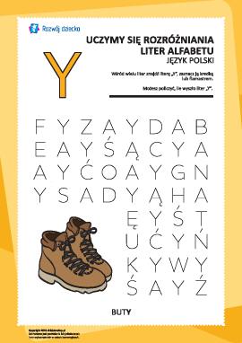"""Alfabet polski: rozpoznaj literę """"Y""""»"""