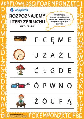 Rozpoznajemy polskie litery ze słuchu nr 4