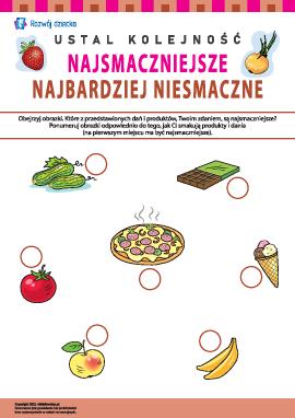 Ustalamy preferencje żywieniowe: najsmaczniejsze – najbardziej niesmaczne