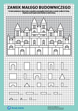 Zamek budowniczego: pokoloruj i policz nr 13