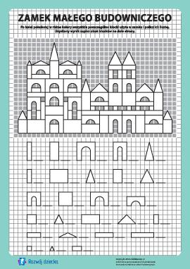 Zamek budowniczego: pokoloruj i policz nr 12