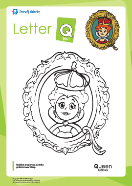 "Kolorowanka ""Alfabet angielski"": litera ""Q"""