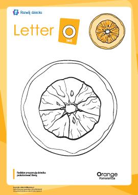 """Kolorowanka """"Alfabet angielski"""": litera """"O"""""""