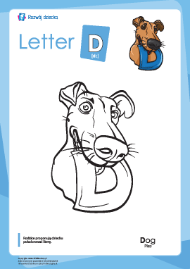 "Kolorowanka ""Alfabet angielski"": litera ""D"""
