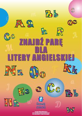 Znajdź parę dla litery (alfabet angielski)