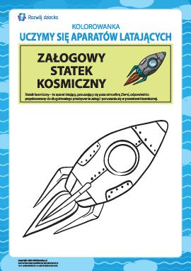 Kolorowanka aparatów latających: pilotowany statek kosmiczny