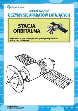 Kolorowanka aparatów latających: stacja orbitalna