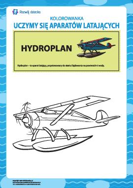 Kolorowanka aparatów latających: hydroplan