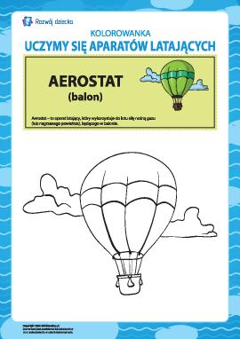 Kolorowanka aparatów latających: aerostat