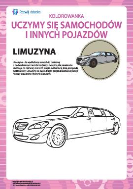 Kolorowanka pojazdów: limuzyna