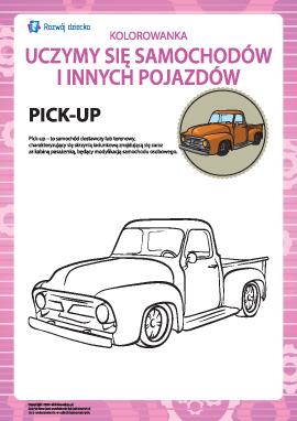 Kolorowanka pojazdów: pick-up