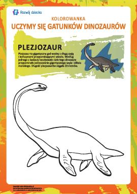 Kolorowanka dinozaury: plezjozaur