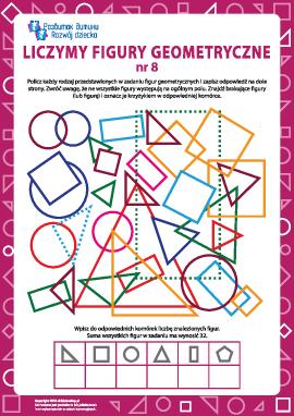 Liczymy figury geometryczne nr 8