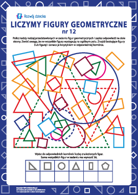 Liczymy figury geometryczne nr 12