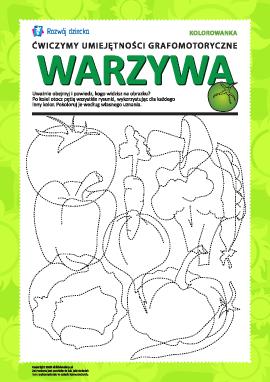 Umiejętności grafomotoryczne: warzywa nr 2