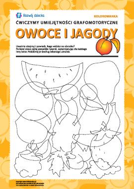 Umiejętności grafomotoryczne: owoce i jagody nr 1