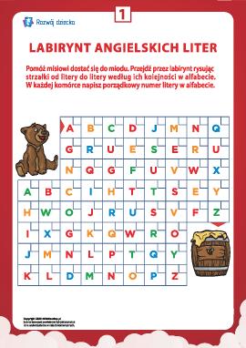 Labirynt angielskich liter nr 1 (alfabet angielski)