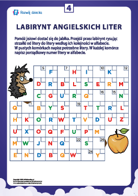 Labirynt angielskich liter nr 4 (alfabet angielski)