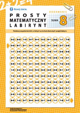 """Labirynt matematyczny: suma """"8"""""""