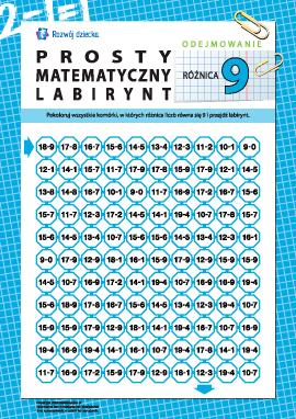 """Labirynt matematyczny: różnica """"9"""""""