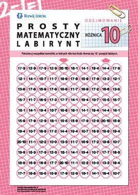 """Labirynt matematyczny: różnica """"10"""""""