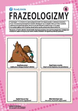 Frazeologizmy nr 6 (język polski)