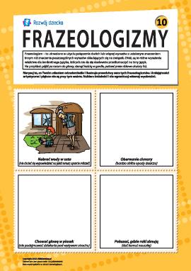 Frazeologizmy nr 10 (język polski)
