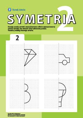 Poznajemy symetrię zgodnie z punktami nr 2