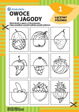 Łączymy połówki owoców i jagód nr1