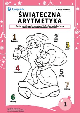 """Kolorowanka """"Arytmetyka noworoczna"""" nr1"""
