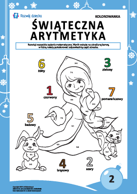 """Kolorowanka """"Arytmetyka noworoczna"""" nr2"""