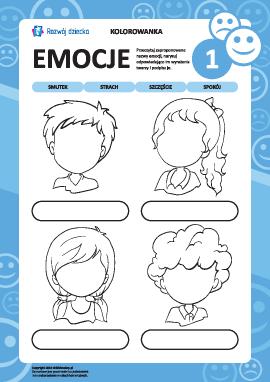 Rozpoznajemy emocje na podstawie wyrazu twarzy nr 1