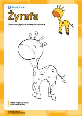 """Kolorowanka """"Żyrafa"""""""