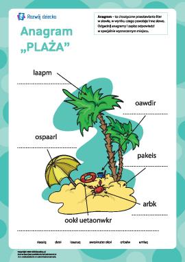 "Anagram ""Plaża"""