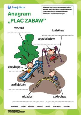 """Anagram """"Placyk zabaw"""""""