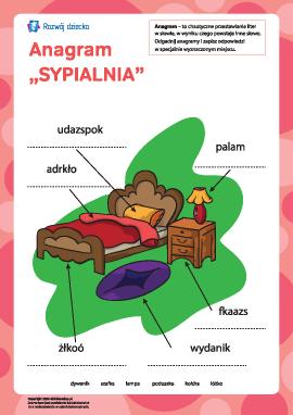 "Anagram ""Sypialnia"""