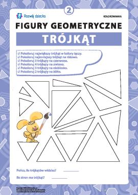 """Kolorowanka """"Figury geometryczne"""": trójkąt"""