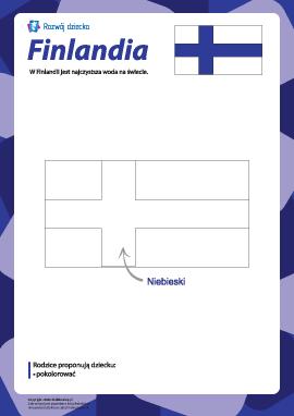 "Kolorowanka ""Flaga Finlandii"""