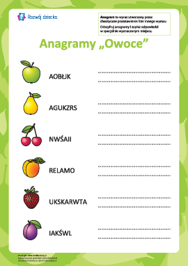 """Anagram """"Owoce"""""""