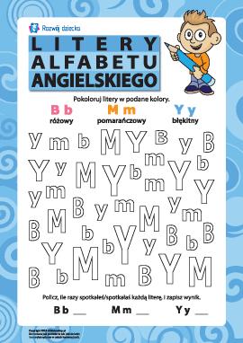 Litery alfabetu angielskiego – B, M, Y