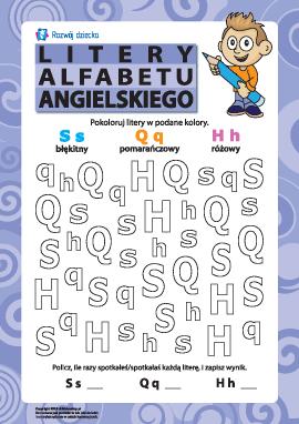 Litery alfabetu angielskiego – S, Q, H
