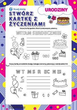 Tworzymy kartki z życzeniami №1: Urodziny